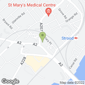 Map of The Co-operative Travel in Strood, Rochester, kent