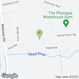 Map of A1 Driving School in West Molesey, surrey