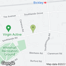 Map of Westmoreland Garage in Bromley, kent