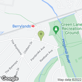 Map of RJ Tree Services in Surbiton, surrey