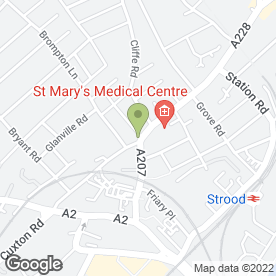 Map of Blakes Security Systems Ltd in Strood, Rochester, kent