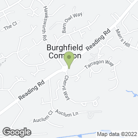 Map of Burghfield Health Centre in Burghfield Common, Reading, berkshire