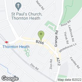 Map of Kingsbury Estate Agents in Thornton Heath, surrey