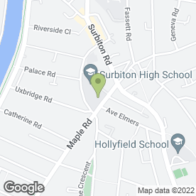 Map of Dyno Locks & Alarms in Surbiton, surrey