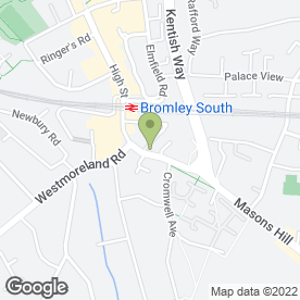 Map of 90 DEGREES in Bromley, kent