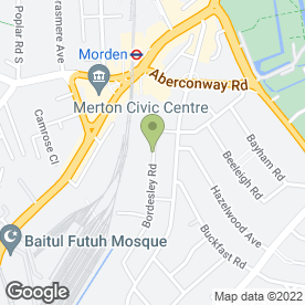 Map of FINISHING TOUCH DECORATING in Morden, surrey