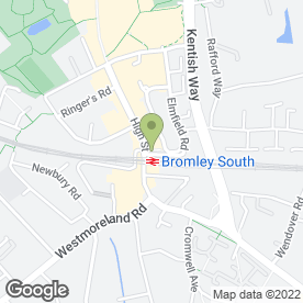 Map of Kinleigh Folkard & Hayward Estate Agents in Bromley, kent