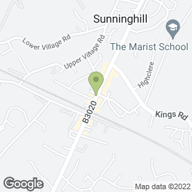 Map of Aaron Chiropractic Clinic Of Sunninghill Dr Gerald Turnbull in Sunninghill, berkshire