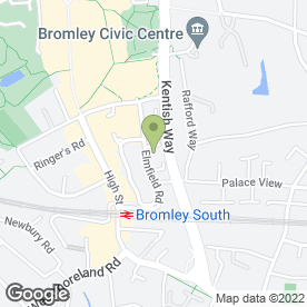 Map of CS Legal Consultants in Bromley, kent
