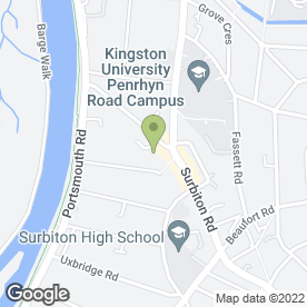 Map of Robinson White Partnership Ltd in Kingston Upon Thames, surrey