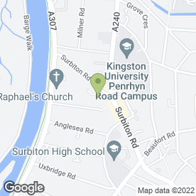Map of Bentley Pugh & Associates in Kingston Upon Thames, surrey