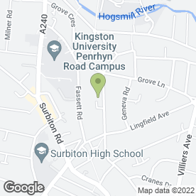 Map of Antoinette Hotel of Kingston in Kingston Upon Thames, surrey