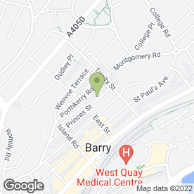 Map of Evans Plastering & Tiling in Barry, south glamorgan