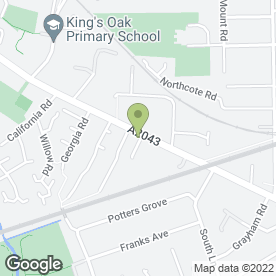 Map of The Wood Flooring Shop in New Malden, surrey