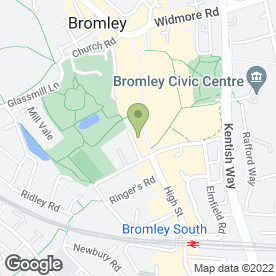 Map of Santander in Bromley, kent
