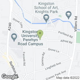 Map of The Spring Grove in Kingston Upon Thames, surrey