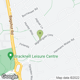 Map of 1st Stop Minibus in Bracknell, berkshire