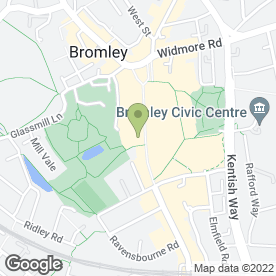 Map of Greggs in Bromley, kent