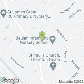 Map of Beulah Road P.O in Thornton Heath, surrey