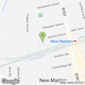 Map of Alan Paterson in New Malden, surrey