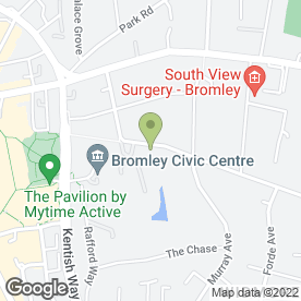 Map of ROCHESTER LODGE DENTAL PRACTICE in Bromley, kent