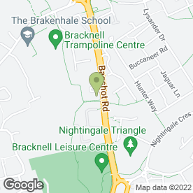 Map of Bracknell Leisure Centre in Bracknell, Berkshire, berkshire