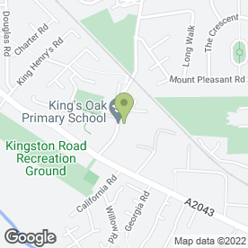 Map of COMMERCIAL INTERIOR in New Malden, surrey