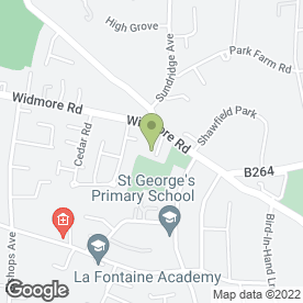 Map of Whybrow Signing Consultants Ltd in Bromley, kent