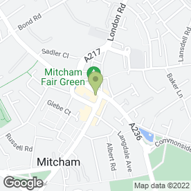 Map of Kentiss Fried Chicken in Mitcham, surrey