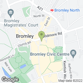Map of McDonald's Restaurants Ltd in Bromley, kent