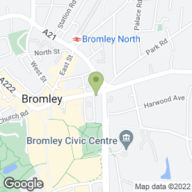Map of Hammonds Furniture Ltd in Bromley, kent
