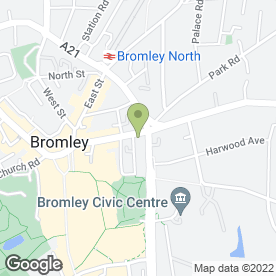 Map of Thackray Williams LLP in Bromley, kent