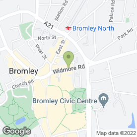 Map of Biba's Night Club LLP in Bromley, kent