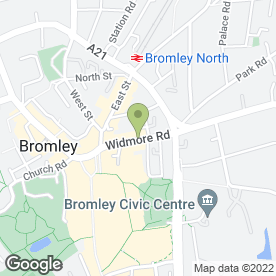 Map of Dettlaff Solicitors Ltd in Bromley, kent