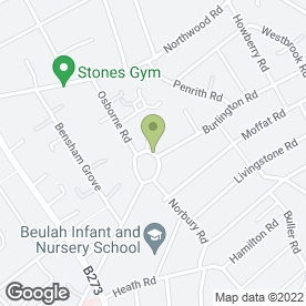 Map of International Specialist Services Ltd in Thornton Heath, surrey