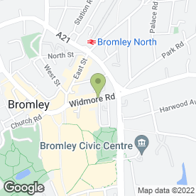 Map of Spacemaker Fitted Furniture in Bromley, kent