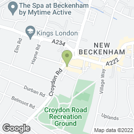 Map of Deens Garage in Beckenham, kent