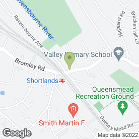 Map of Bloxhams Florists in Shortlands, Bromley, kent