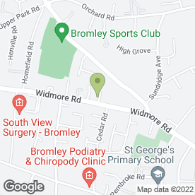 Map of Bromley Blooms in Bromley, kent