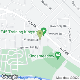 Map of Kingston Motorcycle Centre Ltd in Kingston Upon Thames, surrey