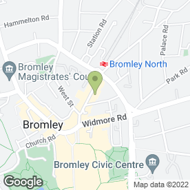 Map of Rhino Bedrooms in Bromley, kent
