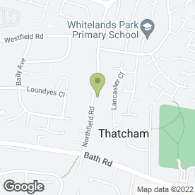 Map of Northfield Road in Thatcham, berkshire