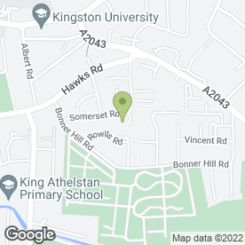 Map of Fantasy Hair & Beauty in Kingston Upon Thames, surrey