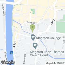 Map of The Hippodrome in Kingston Upon Thames, surrey