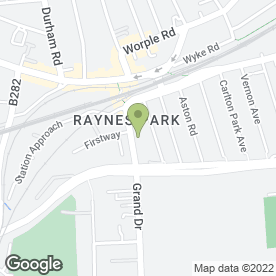 Map of The Park Veterinary Practice in Raynes Park, London, london