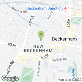 Map of Beckenham Driving School in Beckenham, kent