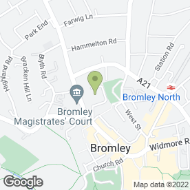 Map of Bromley & Sheppard's Colleges in Bromley, kent