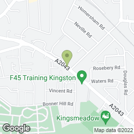 Map of Enterprise Rent-A-Car in Kingston Upon Thames, surrey