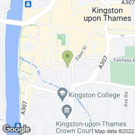 Map of Multiyork Kingston Store in Kingston Upon Thames, surrey