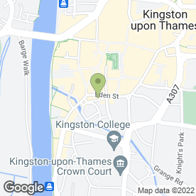 Map of Jack's Of London in Kingston Upon Thames, surrey